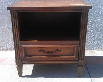 Nightstand Bedside Table Vintage Accent Regency Glam French Provincial Mid Century Modern  Media Console Bedroom Storage CUSTOM PAINT AVAIL