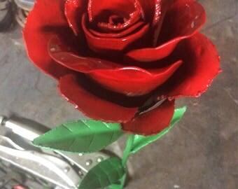 Handmade metal roses