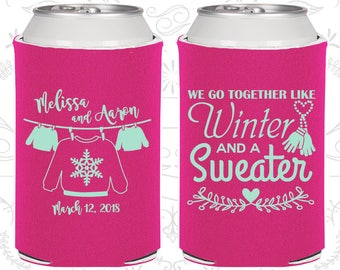 We Go Together Like A Winter And Sweater Custom Wedding Gift