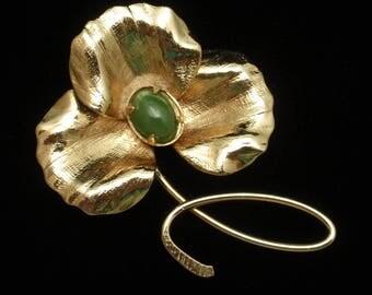 Clover Trefoil Flower Pin Vintage