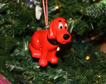 Upcycled Toy Ornament-Clifford the Big Red Dog