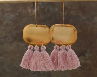 Tassel Earrings - Blue Tassel Earrings - Chandelier Earrings - Multi Tassel Earrings - Tassle Earrings - Statement Earrings, Boho Earrings