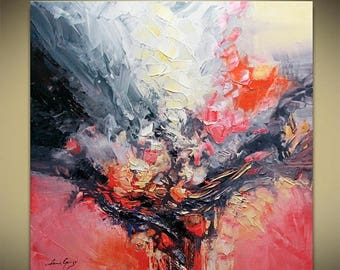 Abstract Painting Modern Textured Palette Knife by Lana Guise
