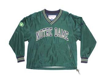 Vintage Champion Notre Dame Pullover Jacket