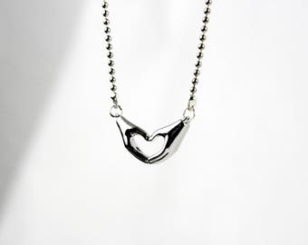 Love - silver plated necklace A34