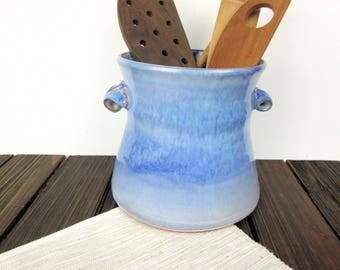 Kitchen Utensil Crock, Jar For Spoons, Pottery Crock Ceramic Utensil Jar  Ceramic Crock Jar