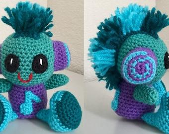 Mohawk baby pattern - amigurumi crochet pattern - crochet toy pattern - amigurumi doll pattern - crochet kawaii  pattern Instant Download