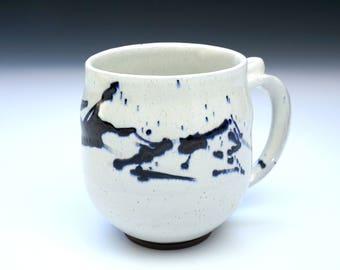 Handmade Ceramic Mug - Rustic White Slip Coffee Cup