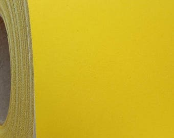 "Flock Yellow 20"" Heat Transfer Vinyl Film By The Yard"