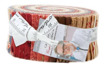 Moda Fabric - Collection for a Cause Compassion Jelly Roll by Howard Marcus - Quilt, Crafts