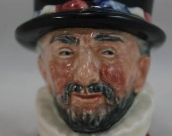 """Royal Doulton Small Shot Mug English Gentleman 2-1/2"""""""