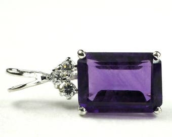 On Sale, 20% Off, Amethyst, Sterling Silver Pendant, SP042