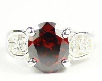 On Sale, 30% Off, Garnet CZ, 925 Sterling Silver Ladies Ring, SR369