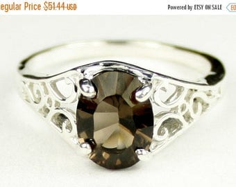 On Sale, 30% Off, Smoky Quartz, 925 Sterling Silver Ring, SR005