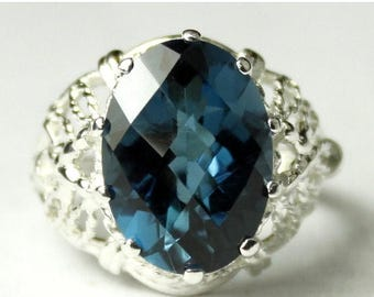 On Sale, 30% Off, London Blue Topaz, 925 Sterling Silver Ring, SR260