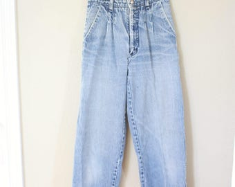 vintage 1980's high rise  mom  jeans denim 24