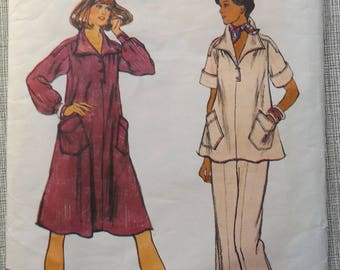 Misses' Maternity Dress or Top and Pants in Size 16 Complete Vintage Vogue Maternity Sewing Pattern 8970
