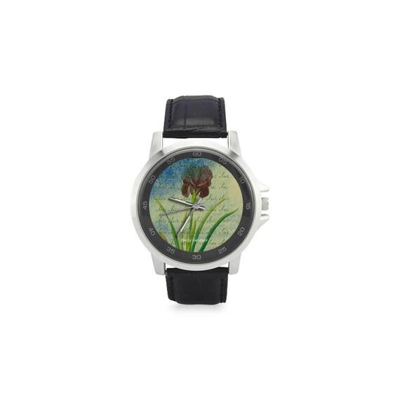 Botanical iris watch