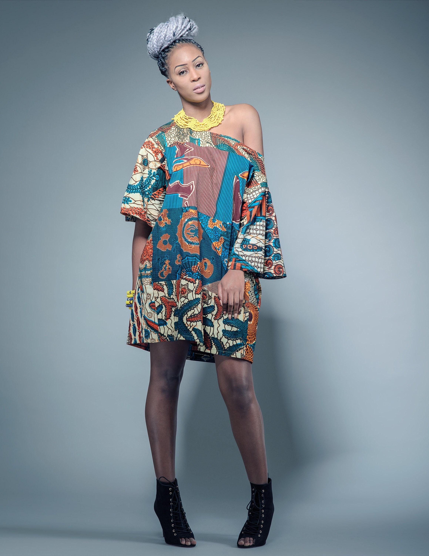 Sosome African Patchmark Designer Dress