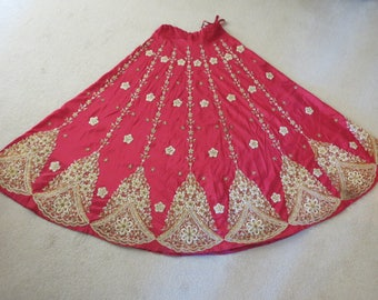 Vintage Heavily Embroidered Indian Wedding Skirt