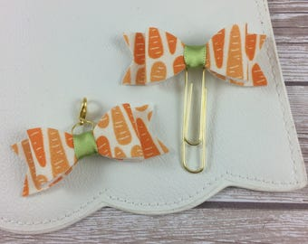 Carrot Patterned Planner Clip or Charm // Easter // Planner Accessories // Bookmark