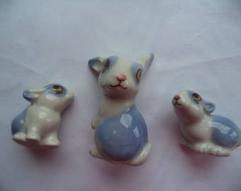 Vintage Signed Wade Happy Families Rabbits