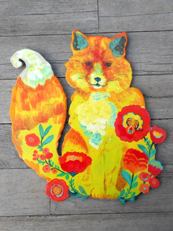 Wood fox sign by Kimberly Hodges, baby fox sign, fox lover gifts, fox nursery sign, fox gifts for her, fox lovers gifts, wood fox decor