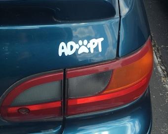 Adopt Window Vinyl Decal Sticker