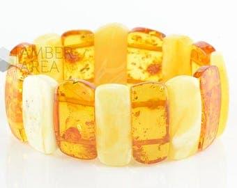 Light Baltic Amber Bracelet // 0039/1