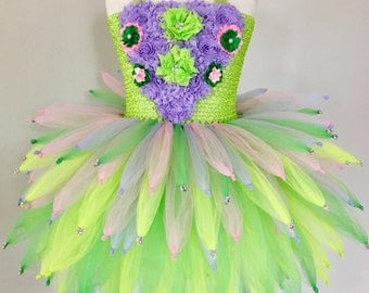 Tinkerbell costume, tinkerbell dress, Fairy tutu, fairy costume, tinkerbell tutu, pixie tutu, purple fairy tutu, fairy party, green fairy