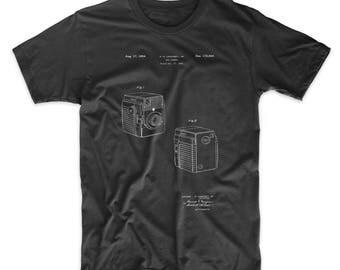 Camera Patent T Shirt, Box Camera, Photography, PP0300