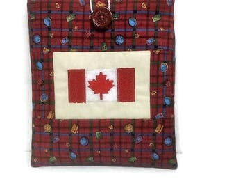 book jumper, Canada flag, Ipad mini items, embroidery, best selling items, book cover, gadget case, fabric cover, kindle fire, padded gift,