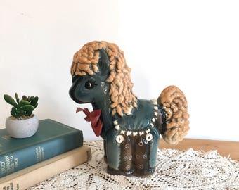Large Vintage Ceramic Pony - My Little Pony - Blue - Green