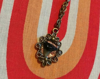 Shark tooth in resin necklace