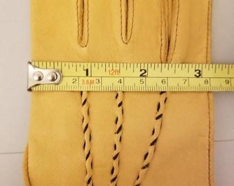 Vintage Deerskin Gloves, Soft, Golden Caramel-Colored, Marked 7 /2