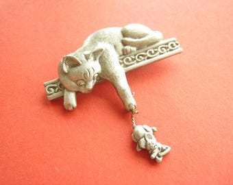 PIN cat and mouse vintage 80