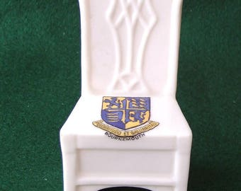Arcadian Crested China Chair Bournemouth  Crest Ware
