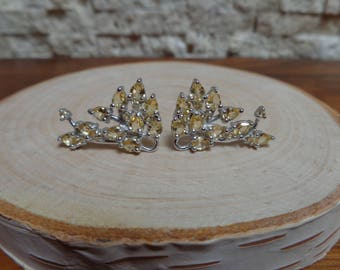 Citrine and Sterling Silver Vine earring