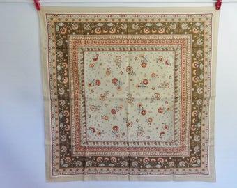 Vintage Scarf St Michael flower scarf 66cm x 66cm
