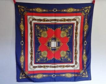 Vintage Scarf Baroque Versailles Style 74cm x 72cm