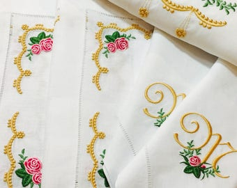 Heirloom Roses Fine Table Linens Collection