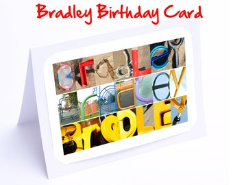 Bradley Personalised Birthday Cards
