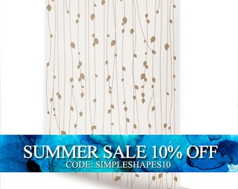 Leaves  Beige Peel & Stick Fabric Wallpaper Repositionable