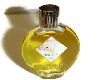 Mini WORTH Perfume Bottle Vintage Je Reviens Miniature Designer Fragrance Collectible French Couture Eau de Parfum Paris France Nearly Full