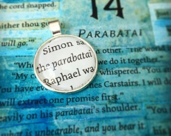 Parabatai  - Quote Pendant, Key Chain, or Necklace from the Mortal Instruments