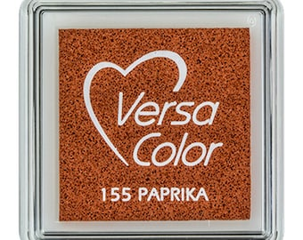 VersaColor ink pad paprika, small ink pad, red inkpad, pigment ink pad, DIY, gift for crafters, craft supplies, rubber stamp ink pad