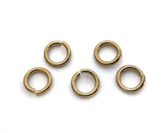 50x Gold Plated 7mm (16 gauge) Round Jump Rings - F095