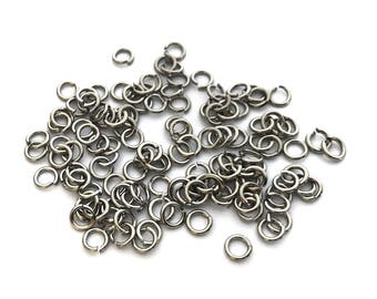 200x Silver Plated Round 19 gauge Jump Rings - F087