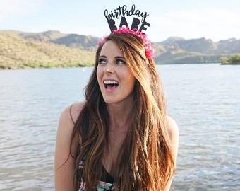 Birthday Headband   Party Hat   Party Crown   Birthday Babe