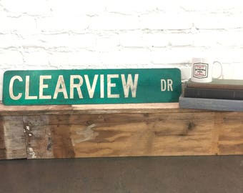 Clearview Drive Road Sign